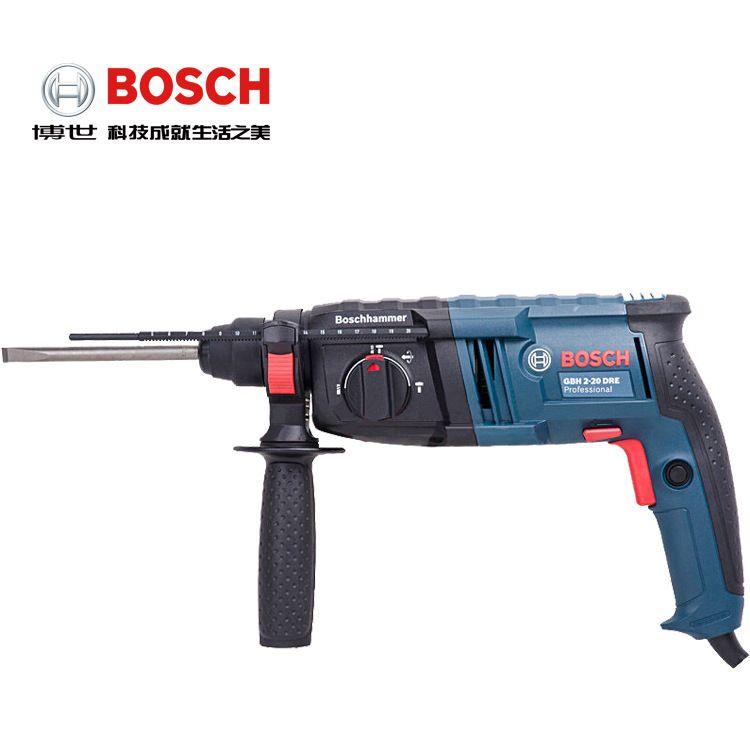 博世800W四坑锤钻 GBH2-26DRE电钻 冲击钻电镐三用电锤调速
