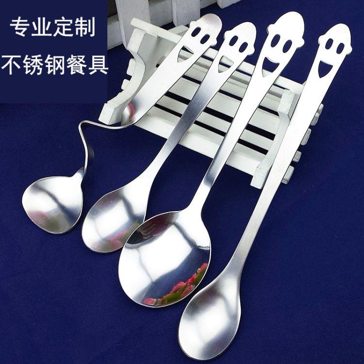 低价可定做广告赠品不锈钢勺咖啡勺调味勺 陶瓷杯搭配勺子
