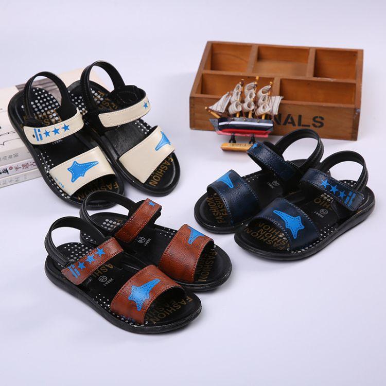 儿童凉鞋 2019新款软底防滑宝宝凉拖鞋大中童沙滩鞋 一件代发