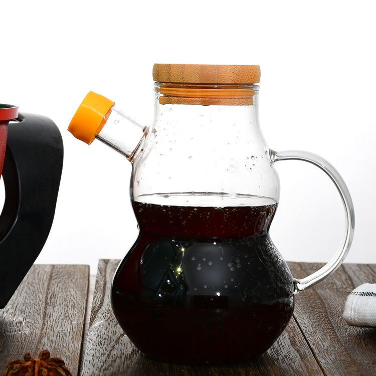 直销玻璃油壶家用液体瓶 玻璃防漏油瓶控油壶厨房用品耐热玻璃壶