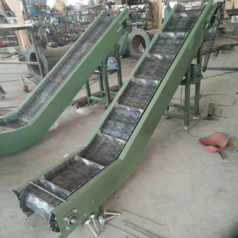 宁津顺发供应304链板输送机 小型食品加工转弯流水线 链板爬坡提升机