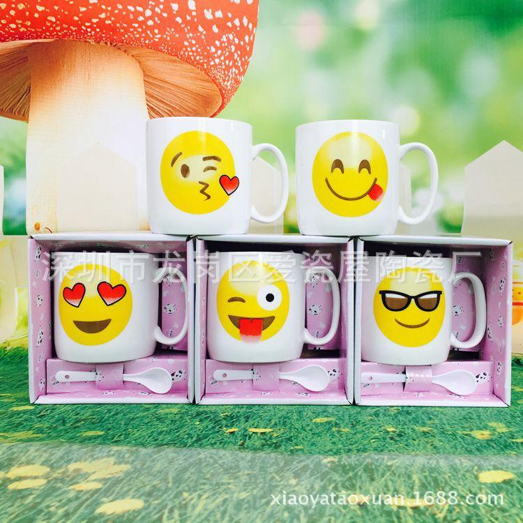 卡通陶瓷杯 创意广告促销小礼品 杯子定制logo 陶瓷咖啡杯 马克杯