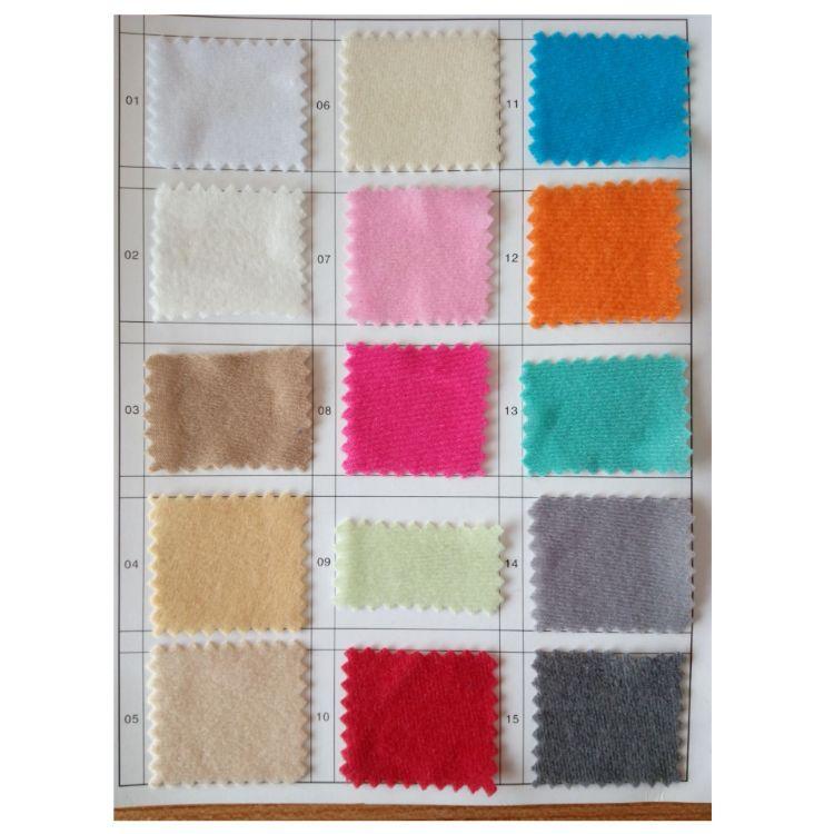 60色 现货小批 圈绒  抓毛布 纤绒  单面拉毛布 包边布