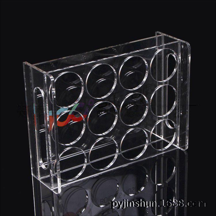 厂家定制亚克力展示架 透明亚克力啤酒架 酒杯展示道具收纳盒