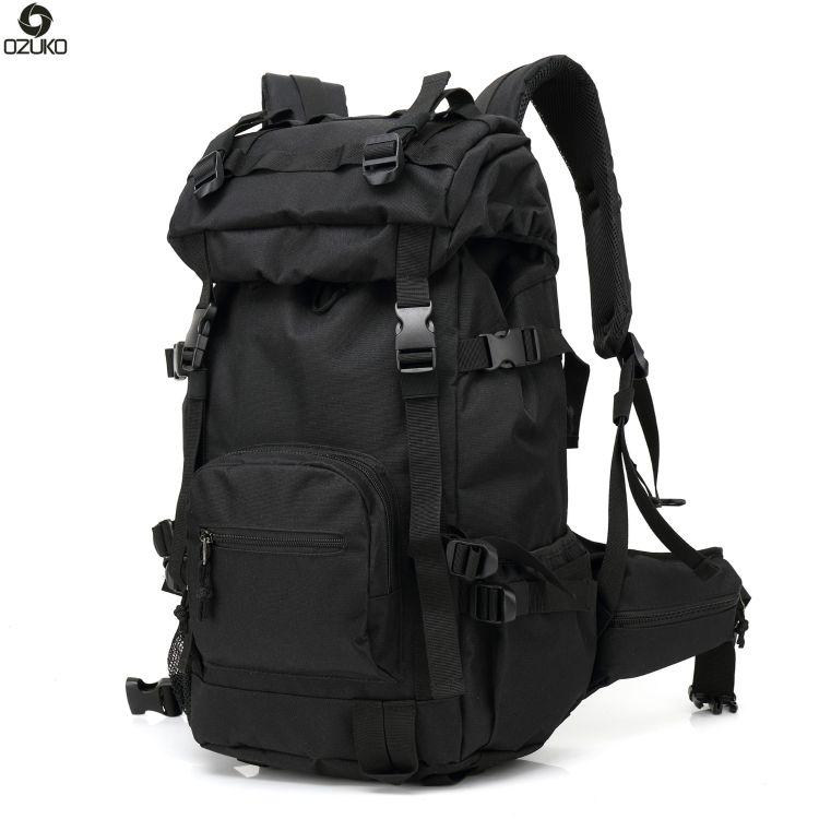ozuko  新款户外大容量双背包男户外旅行双休闲背包迷彩登山包