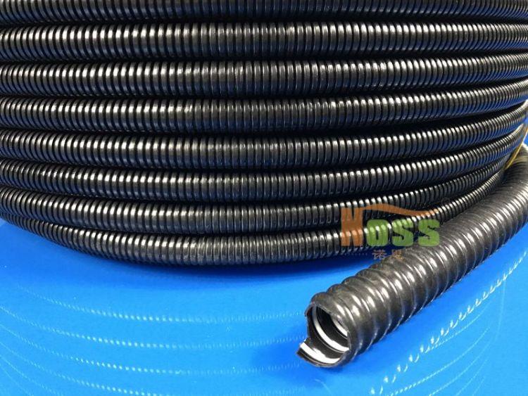 钢丝增强涂塑钢丝透明软管 灰色PVC阻燃吸尘管 PVC钢丝通风软管