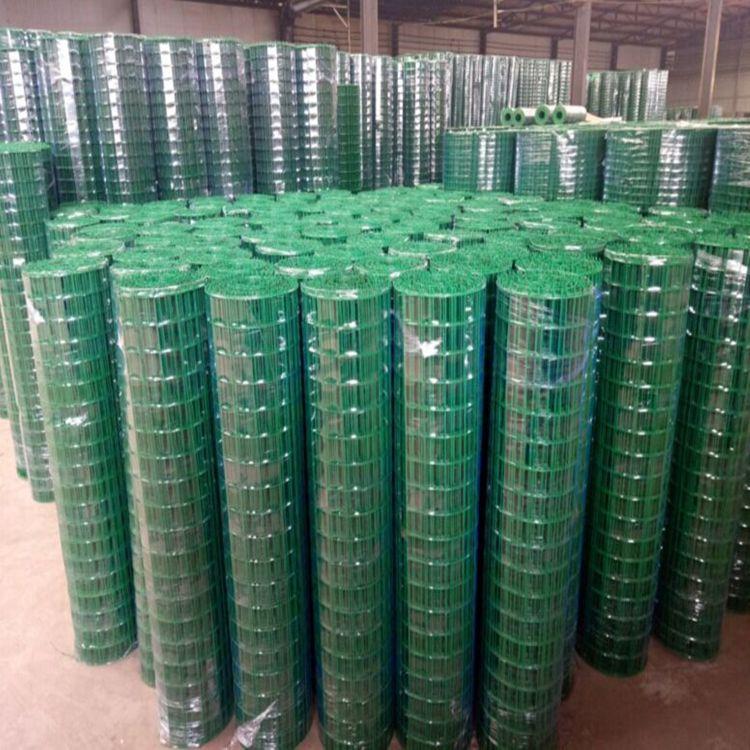 供应 波浪形养殖场圈地养鸡网 2.0米高绿皮包塑铁丝养殖养鸡荷兰