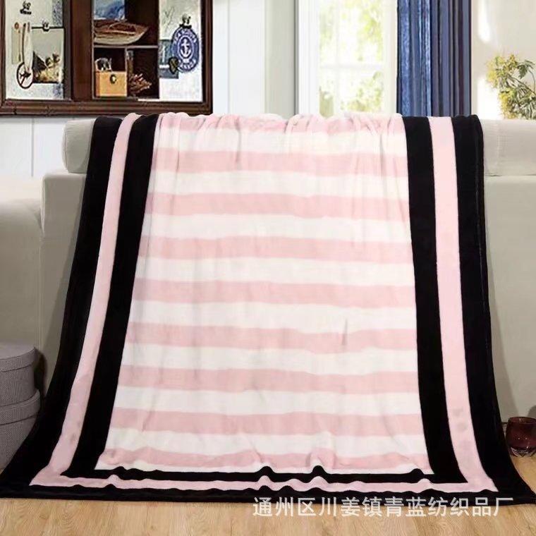 厂家直销外贸珊瑚绒毛毯午睡旅行沙发法莱绒薄毯子空调礼品多用毯