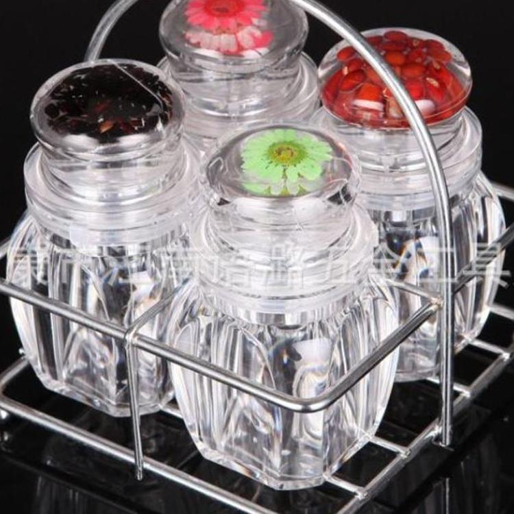 亚克力创意厨房用品调味瓶盐罐 调料罐花椒盐瓶