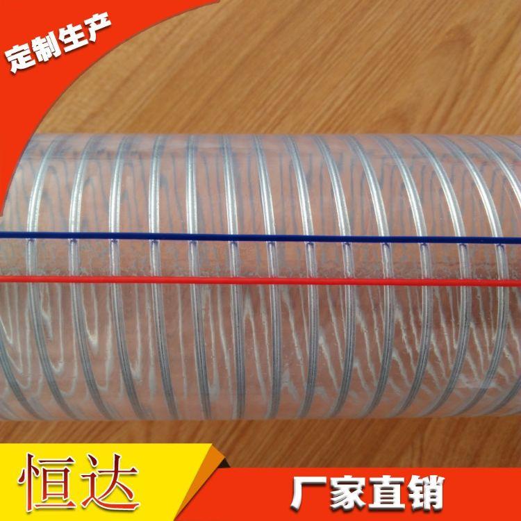 厂家直供pvc透明钢丝管 大口径钢丝管 四季柔软钢丝管 PVC软管直