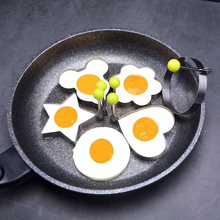 厂家直销烘焙工具 煎蛋圈 蛋糕模具304不锈钢心型煎蛋模 鸡蛋模具