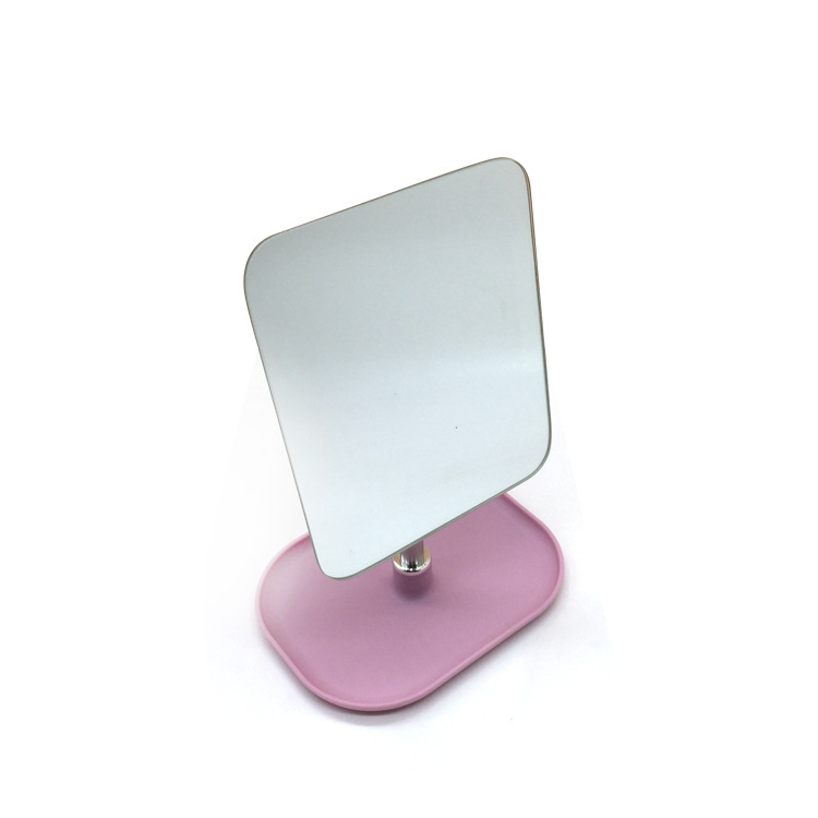 J-1009-1带小收纳功能360度可调节的无边框台式塑料化妆镜