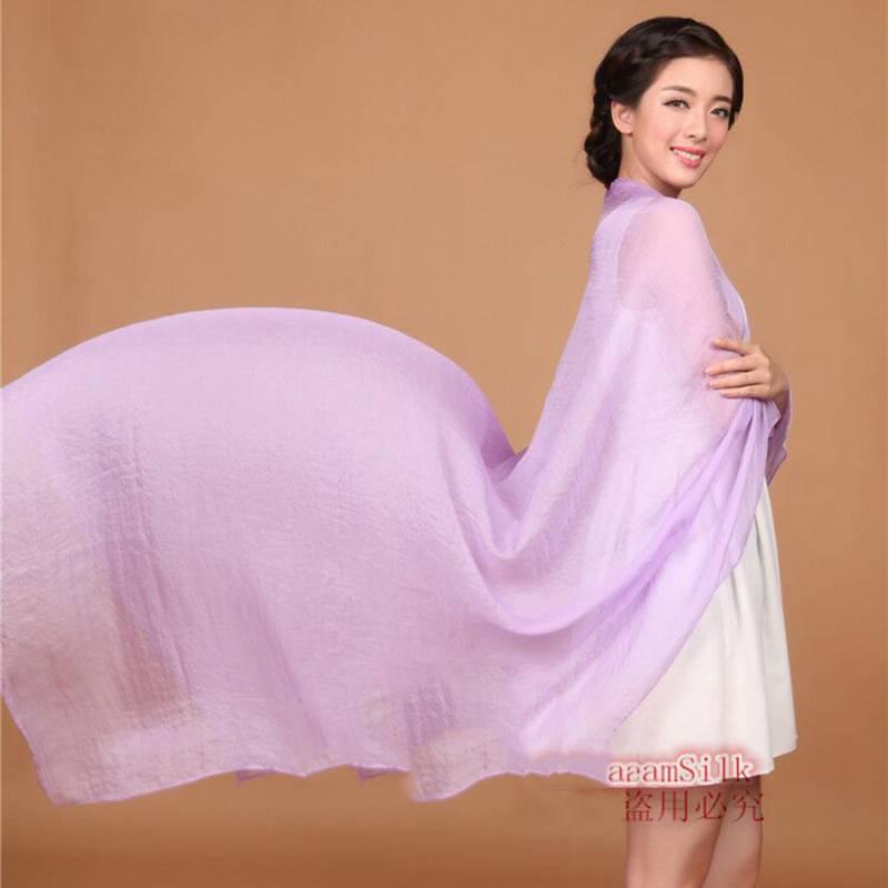 新款純色圍巾韓國春夏季絲巾 空調披肩防曬沙灘巾長款雪紡紗巾