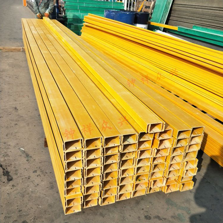 工厂定做玻璃钢桥架 防火电缆桥架100*60黄色电缆桥架
