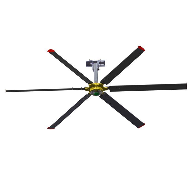 供应六顺牌LS73型永磁直驱大吊扇 永磁盘式大风扇4.2米厂家直销