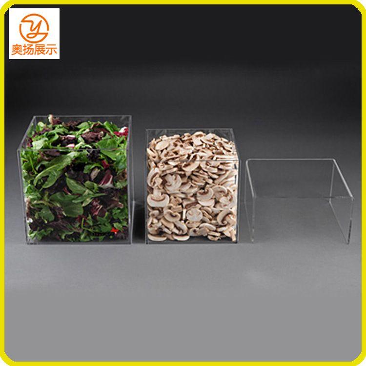 工厂定制亚克力食品盒 亚克力收纳盒 acrylic storage box