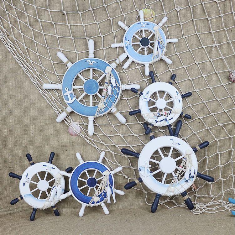 32公分照片墙船舵 地中海创意装饰品挂件  舵手方向盘 厂家直销批