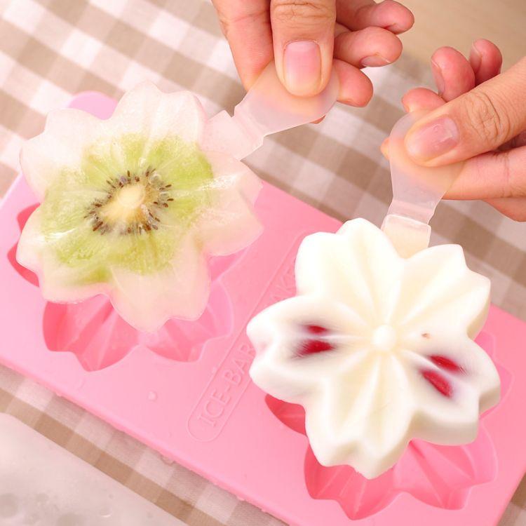 食品级硅胶雪糕模创意DIY冰模INS婴儿辅食冰淇淋磨具冰格模具代发