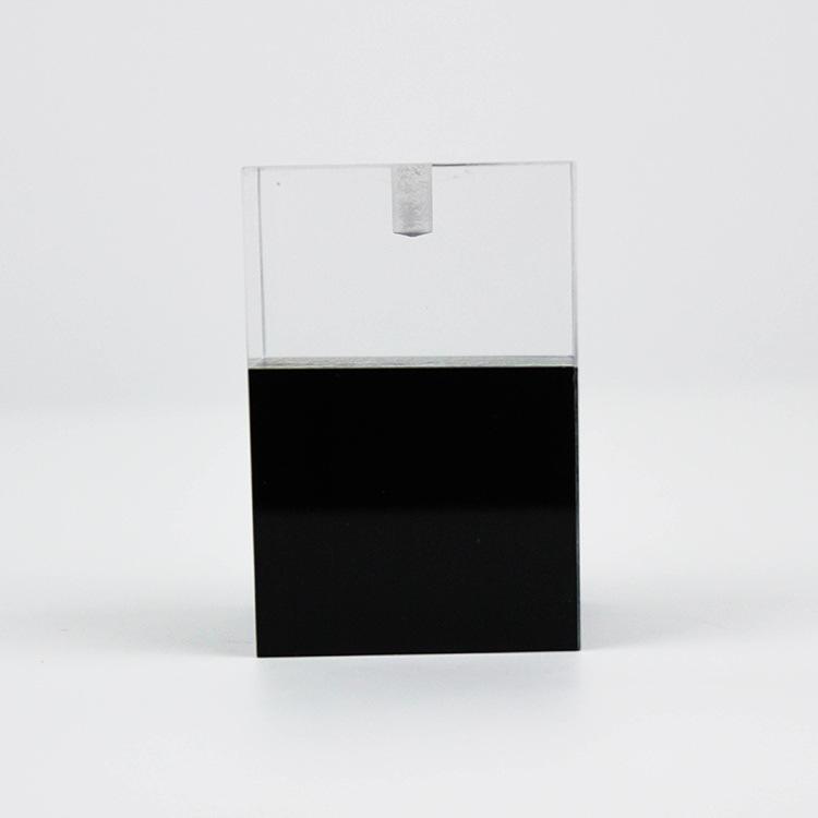 亚克力定制公司LOGO展示台办公桌水晶摆件有机玻璃展示架各种款式