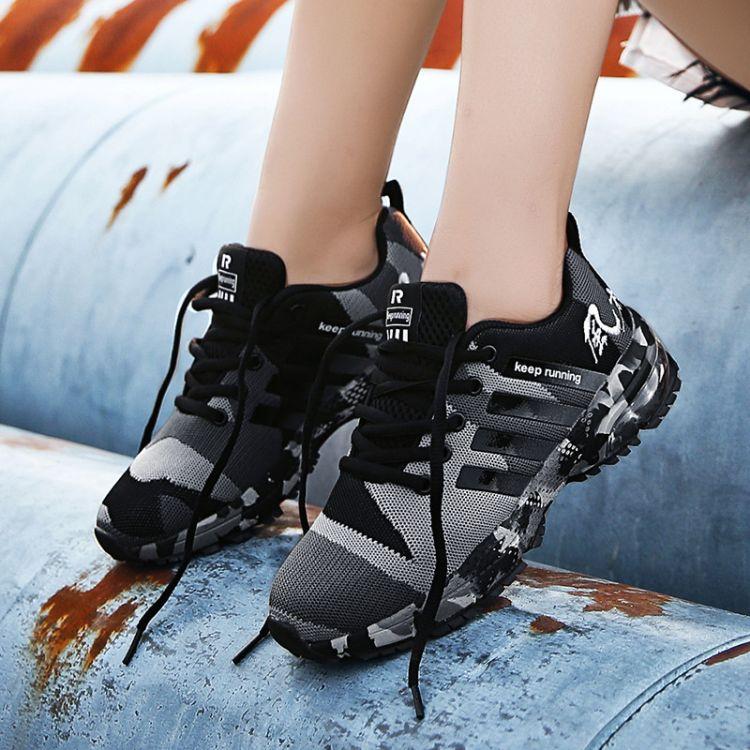 工厂直销男鞋透气休闲运动鞋 夏季情侣休闲鞋户外气垫运动跑步鞋
