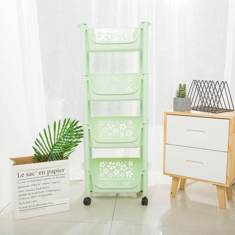 厂家直销厨房置物架 塑料多层厨房收纳整理架浴室杂物暂放置物架