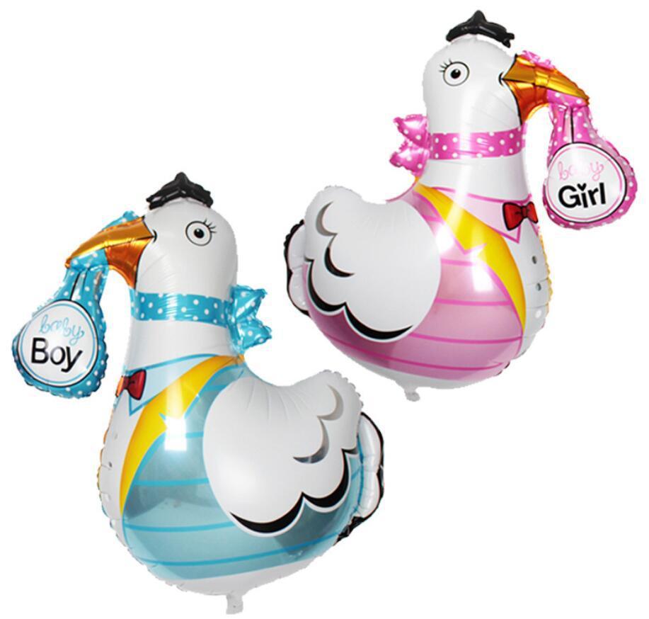 新款卡通造型铝箔咕咕鸡鹤男孩女孩氦气球生日派对百天活动布置球
