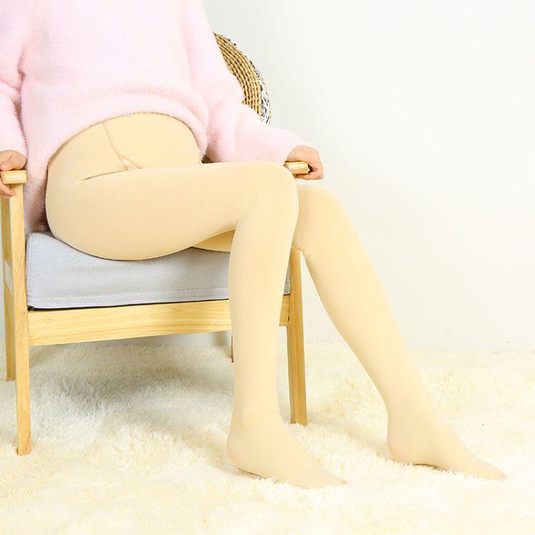 秋冬新款锦纶孕妇打底裤 加绒加厚可调节托腹女士孕妇一体裤批发