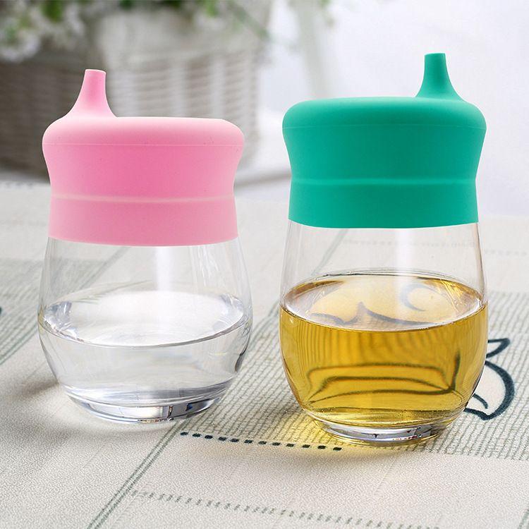 食品级硅胶吸管吸嘴杯盖 防溢防漏儿童喝水杯盖套 生活日用品