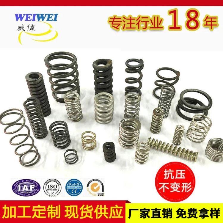 弹簧加工定制 耐高温压缩弹簧 不锈钢压缩弹簧 压簧小弹簧厂家