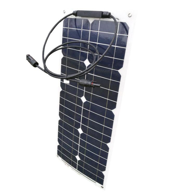 25W单晶太阳能电池板柔性板 高效柔性太阳能板 柔性薄膜太阳能板
