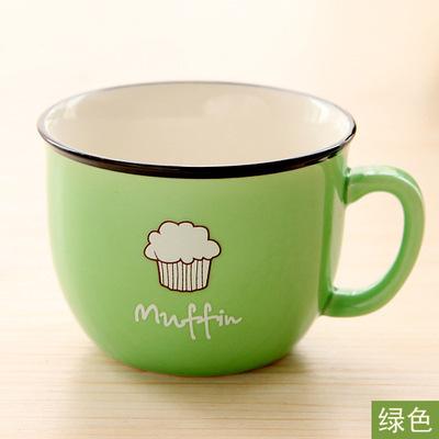 陶瓷杯 可爱水杯情侣创意早餐杯陶瓷杯马克杯子厂家LOGO定制