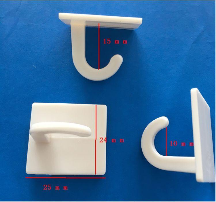 宁波厂家 小型物件挂钩 白色塑料挂钩 强力粘钩