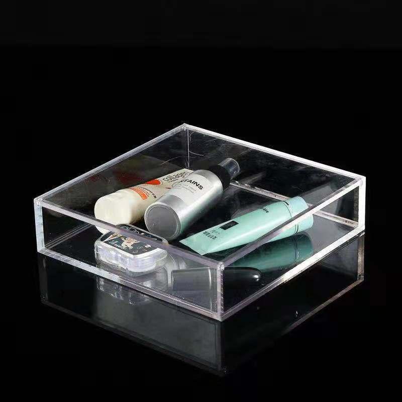 透明亚克力盒子收纳盒有机玻璃防尘罩子现货亚克力化妆品盒定制