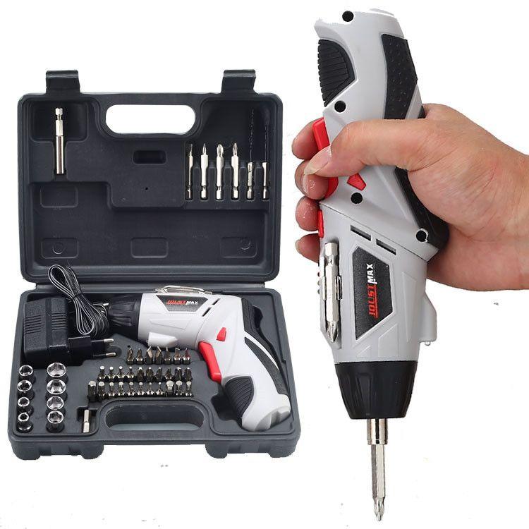 4.8V电动螺丝刀 多功能充电式手电钻 电动螺丝批套装 电动工具