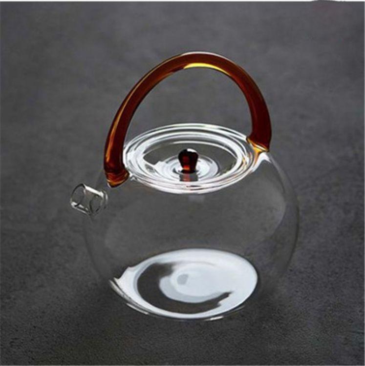 加厚耐热玻璃花茶壶提梁壶沸水壶可加热玻璃壶电陶炉专用厂家直销
