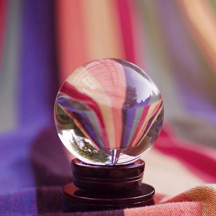 厂家直销k9透明圣诞节水晶球玻璃球摄影创意欧式家具摆件水晶光球
