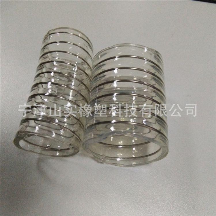 透明PU钢丝管输酒专用 食品级无味钢丝管 304不锈钢丝螺旋管批发