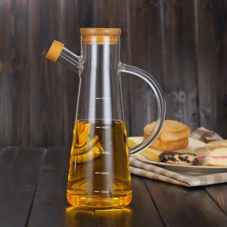 热销 无铅玻璃油壶 玻璃酱油醋瓶防漏 厨房用品 大容量油壶