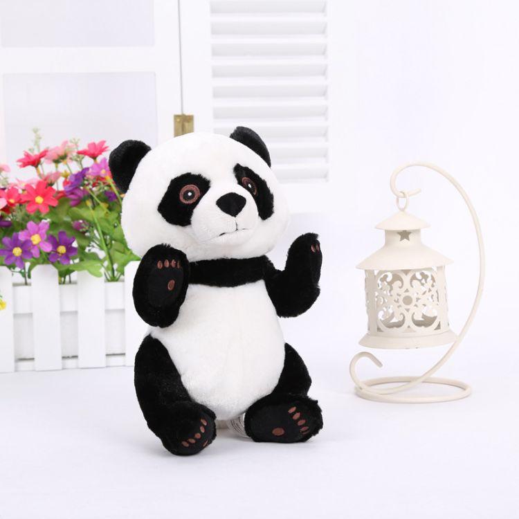 定做可爱玩具熊猫公仔供应 熊猫布玩偶 毛绒玩具供应批发卡通公仔