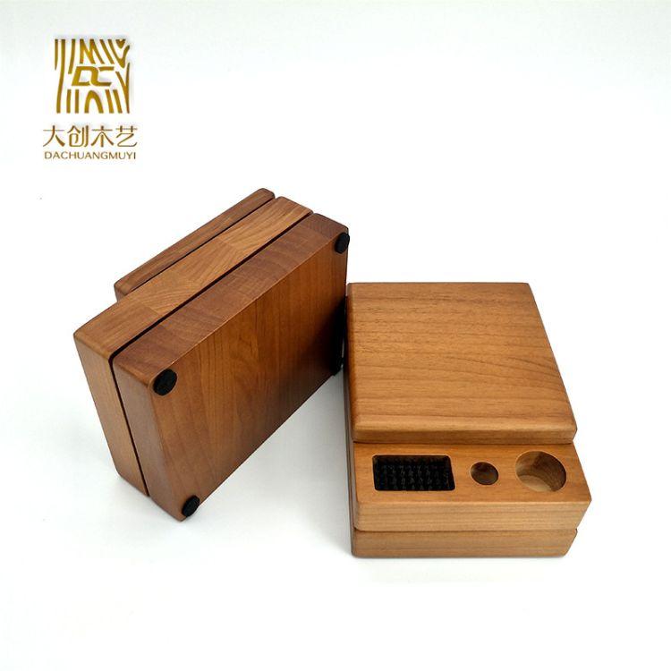 印章印泥木制储存盒 木制礼品盒 创意木质杂物家居整理木质盒