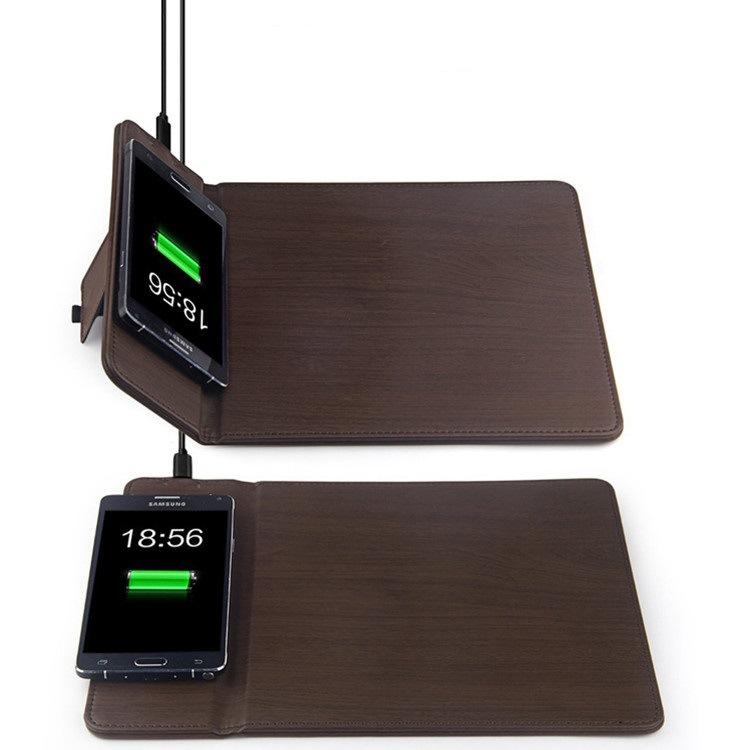 手机无线充电鼠标垫 桌面无线充电器适用iphone8 iphoneX无线充