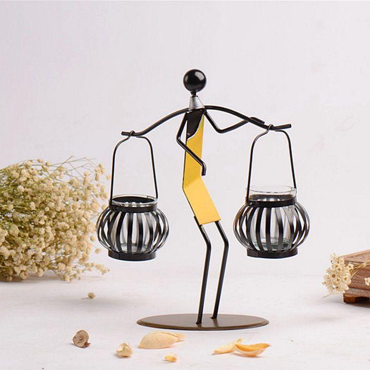 铁艺简约烛台装饰摆件手工加工制作创意工艺礼品摄影道具