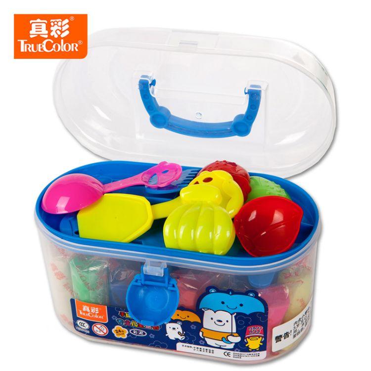 真彩橡皮泥套装24色安全无毒儿童益智玩具DIY创意送模具彩泥