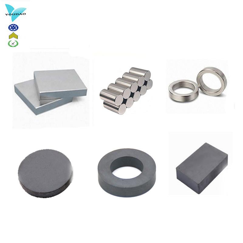 磁铁厂家定制Y10-Y35铁氧体磁铁,N30-N52钕铁硼磁铁各种规格磁铁