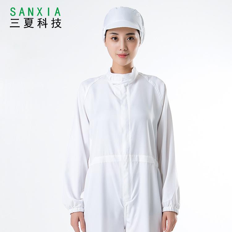 四季食品厂加工服长袖短袖连体白色餐饮鲜肉宰割加工车间易洗速干