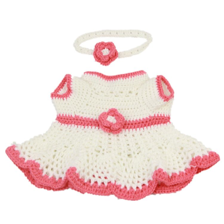 外贸原单KEIUMI重生娃娃17-18寸配件 钩编裙两件套 仿真婴儿服饰