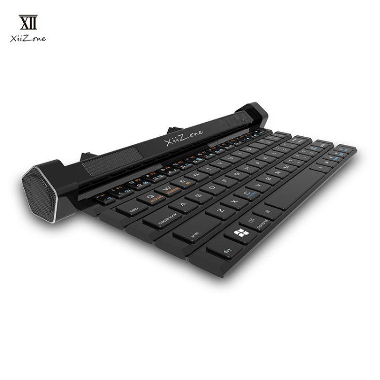 十二區/xii 藍牙音響鍵盤 卷軸式多功能手機支架帶麥克風創意新奇