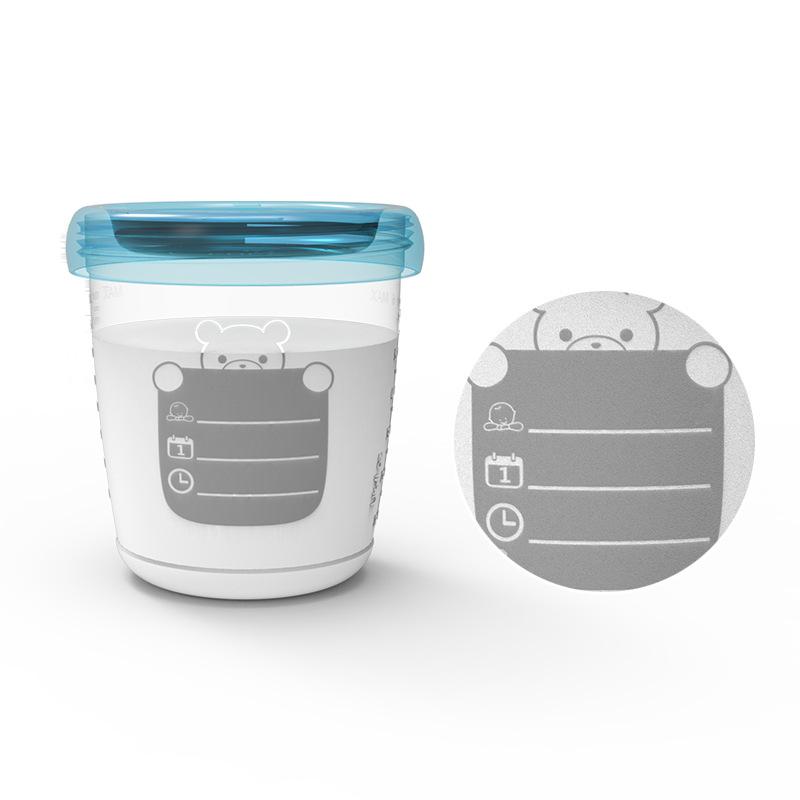 【6枚装】RealBubee储奶杯 母乳储存袋人袋辅食奶瓶存保鲜袋冷冻