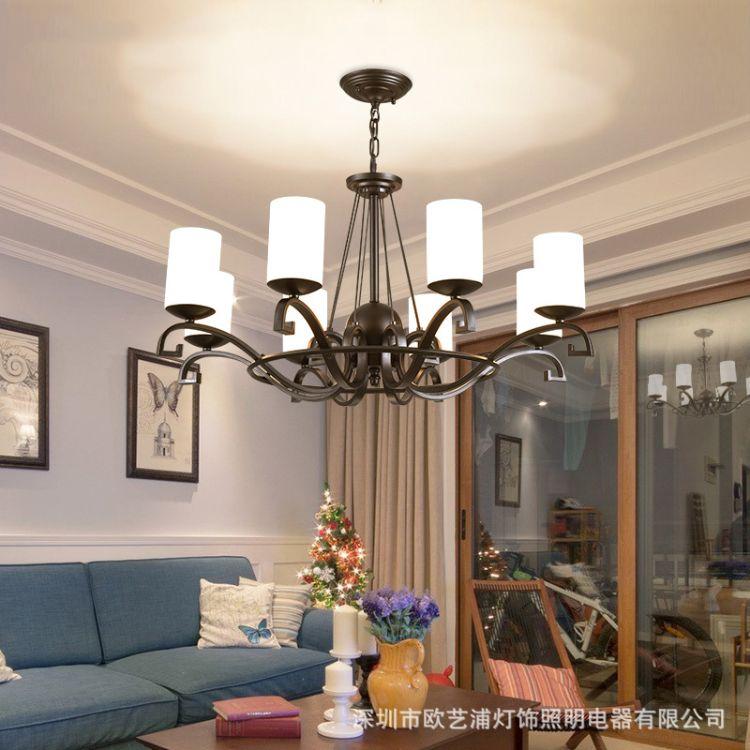吊灯客厅灯现代简约卧室灯时尚创意艺术铁艺灯个性餐厅灯北欧灯具