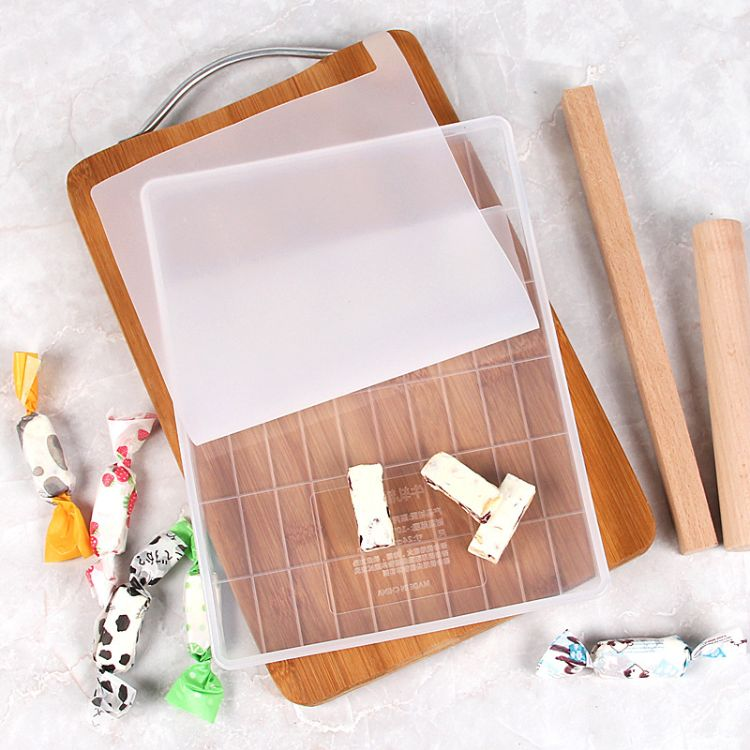 雪花酥模具牛轧糖工具套装奶糖果烘焙硅胶diy沙琪玛现货带切割线